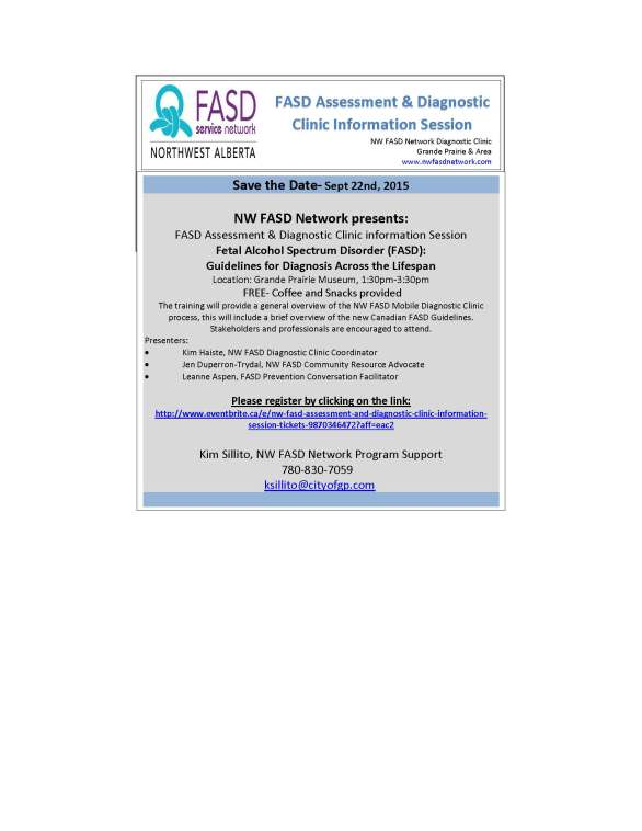 Save the Date Sept 22-Clinic Training NW FASD
