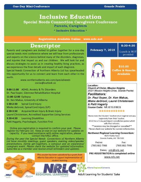Special Needs Connection Caregivers Conference Feb 7