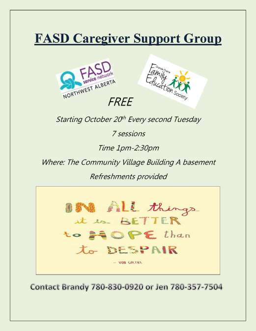FASD Caregiver Support Group poster (002)