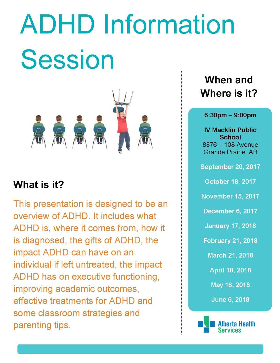 ADHD Information Session Poster