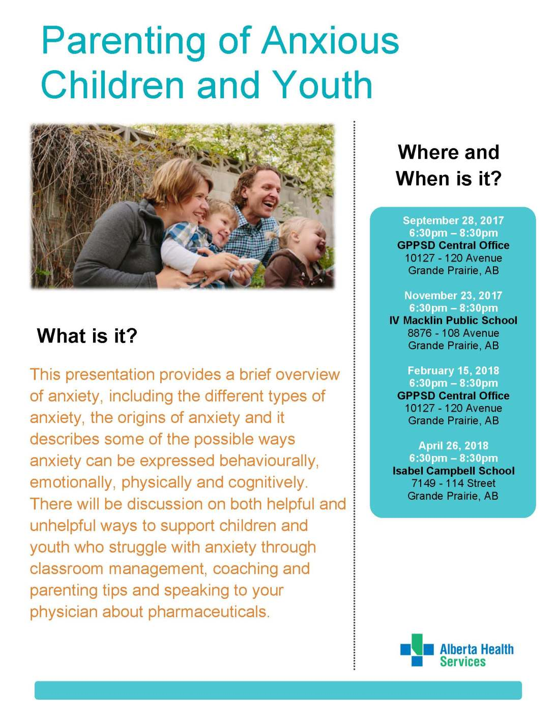 Parenting of Anxious Children and Youth Poster