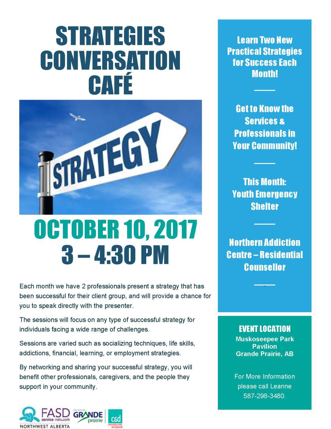 Poster for Strategies Conversation Cafe