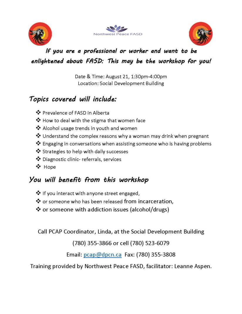FASD poster for August
