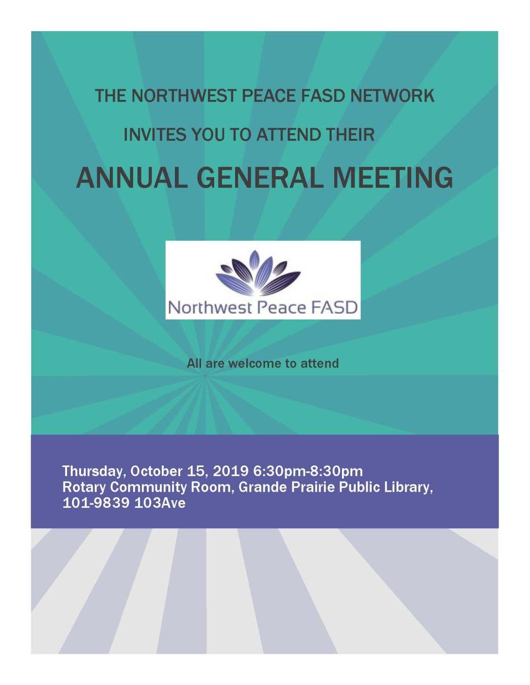 Northwest Peace FASD Network AGM 2019