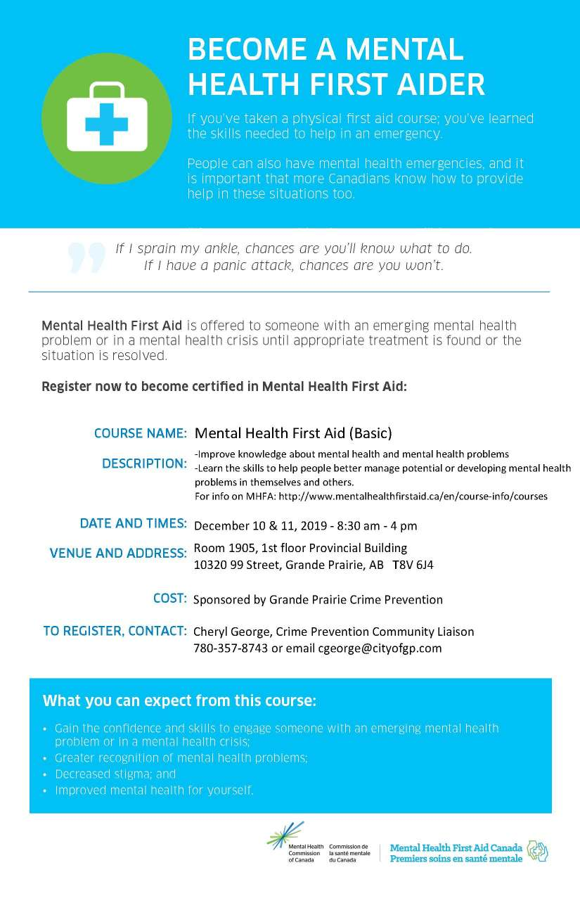 Mental Health First Aid December 10, 11, 2019 Poster.jpg