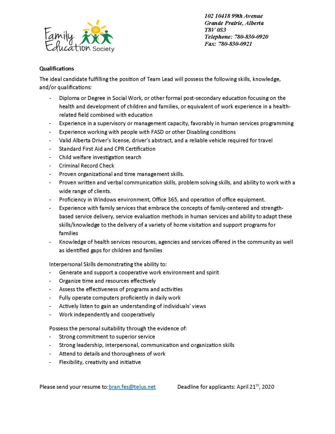 FASD Team Lead Job posting_Page_2